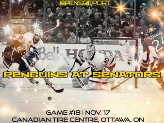 Pens Pre-Game #18: Penguins at Senators- Storm Clouds Stay Overhead