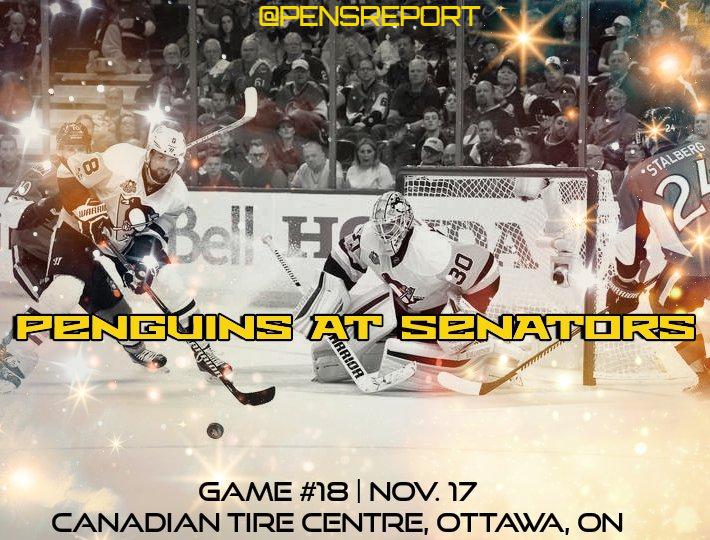Penguins at Senators