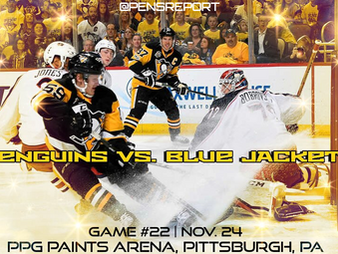 Pens Pre-Game #22: Penguins vs. Blue Jackets- A Tale Of 2 Metro Teams