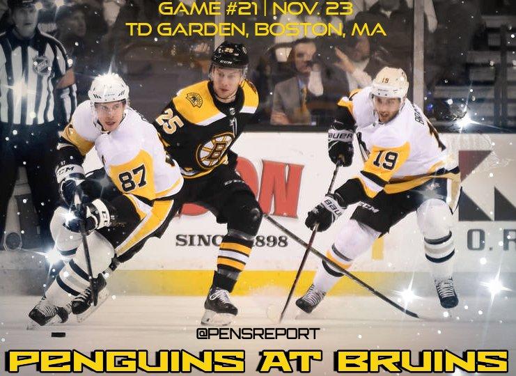 Penguins at Bruins