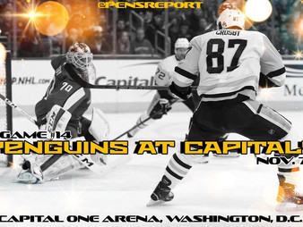 Pens Pre-Game #14: Penguins at Capitals- Pens Need A Big Win On Rivalry Wednesday