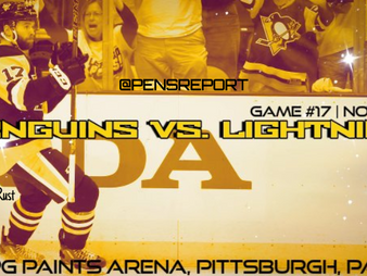 Pens Pre-Game #17: Penguins vs. Lightning- Pens Need A Jolt From Playing The Bolts