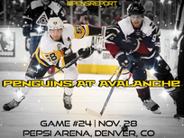 Pens Pre-Game #24: Penguins at Avalanche- Can The Pens Go 3-0?