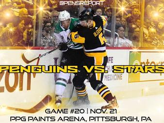 Pens Pre-Game #20: Penguins vs. Stars- Pens Shoot For The Stars