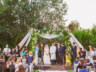 Summer Garden Wedding in Israel