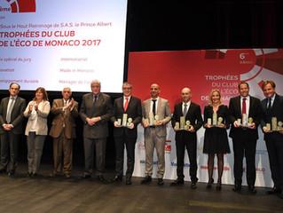 6ème édition des trophées de l'éco - Robert Laure, Président de l'ACI Monaco, a reçu le Trophée