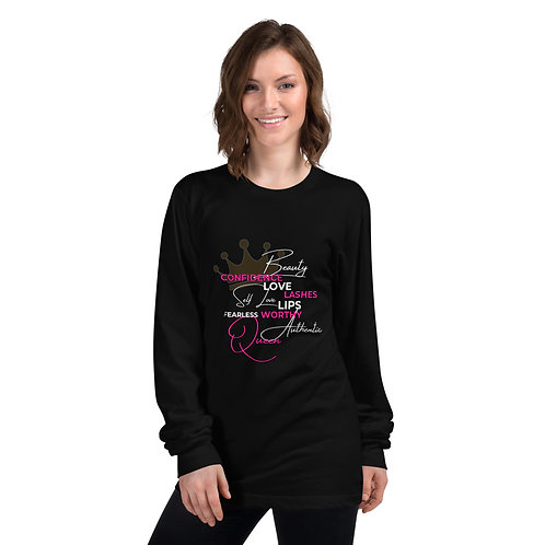 Queen Inspo - Long Sleeve (Black/Pink)