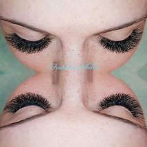 I love doing this beauty's lashes. This