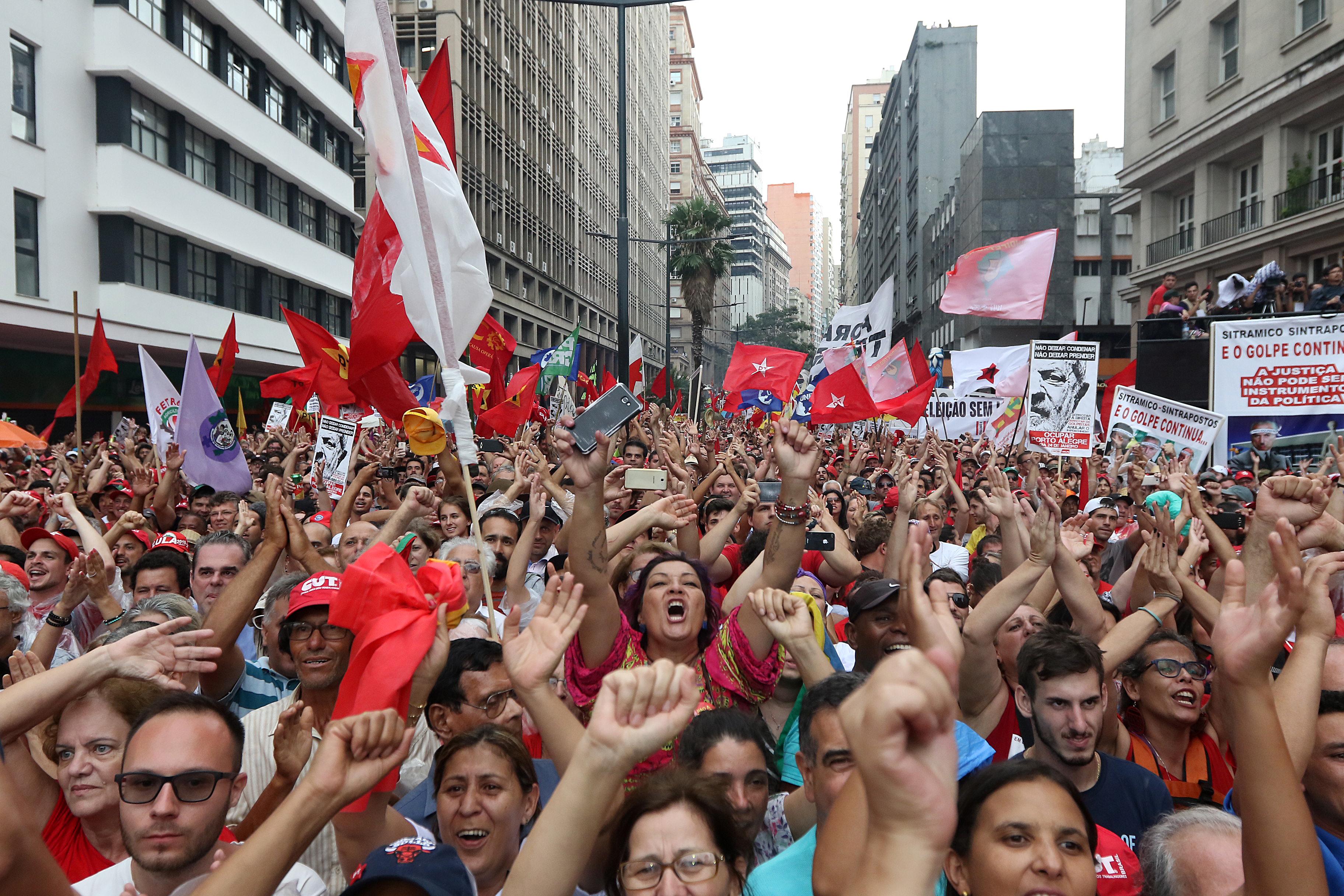 Ato público Pró Lula em Porto Alegre