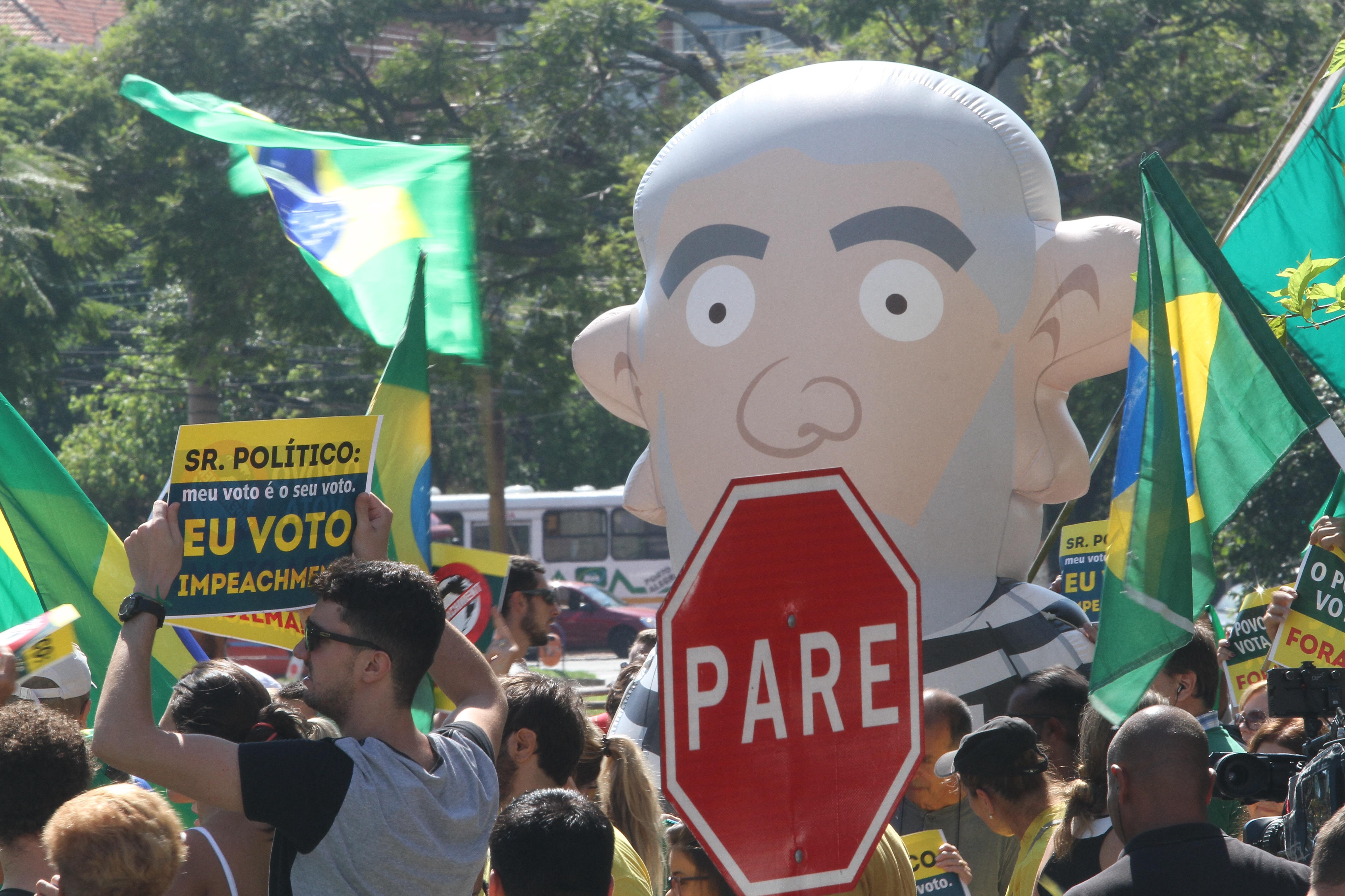 Protesto contra corrupção