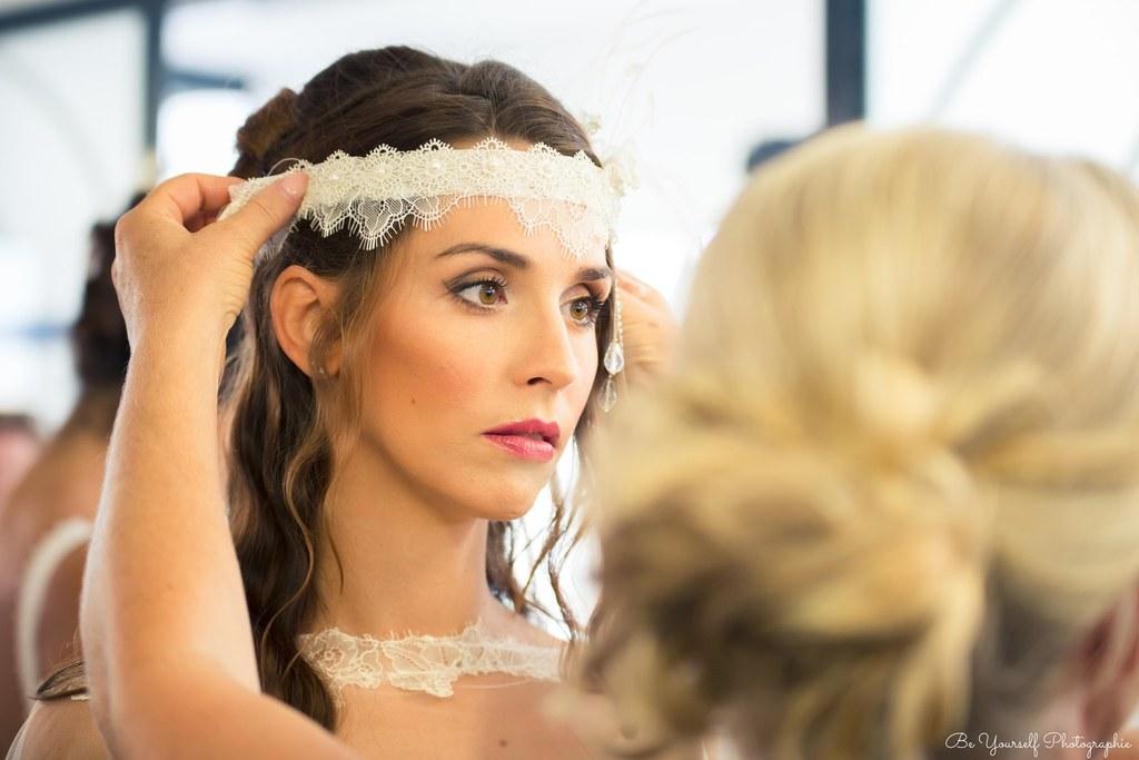 headband mariée dentelle  années 20