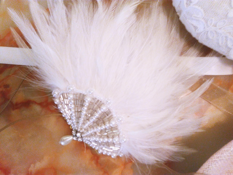 bijou de cheveux blanc style années  20