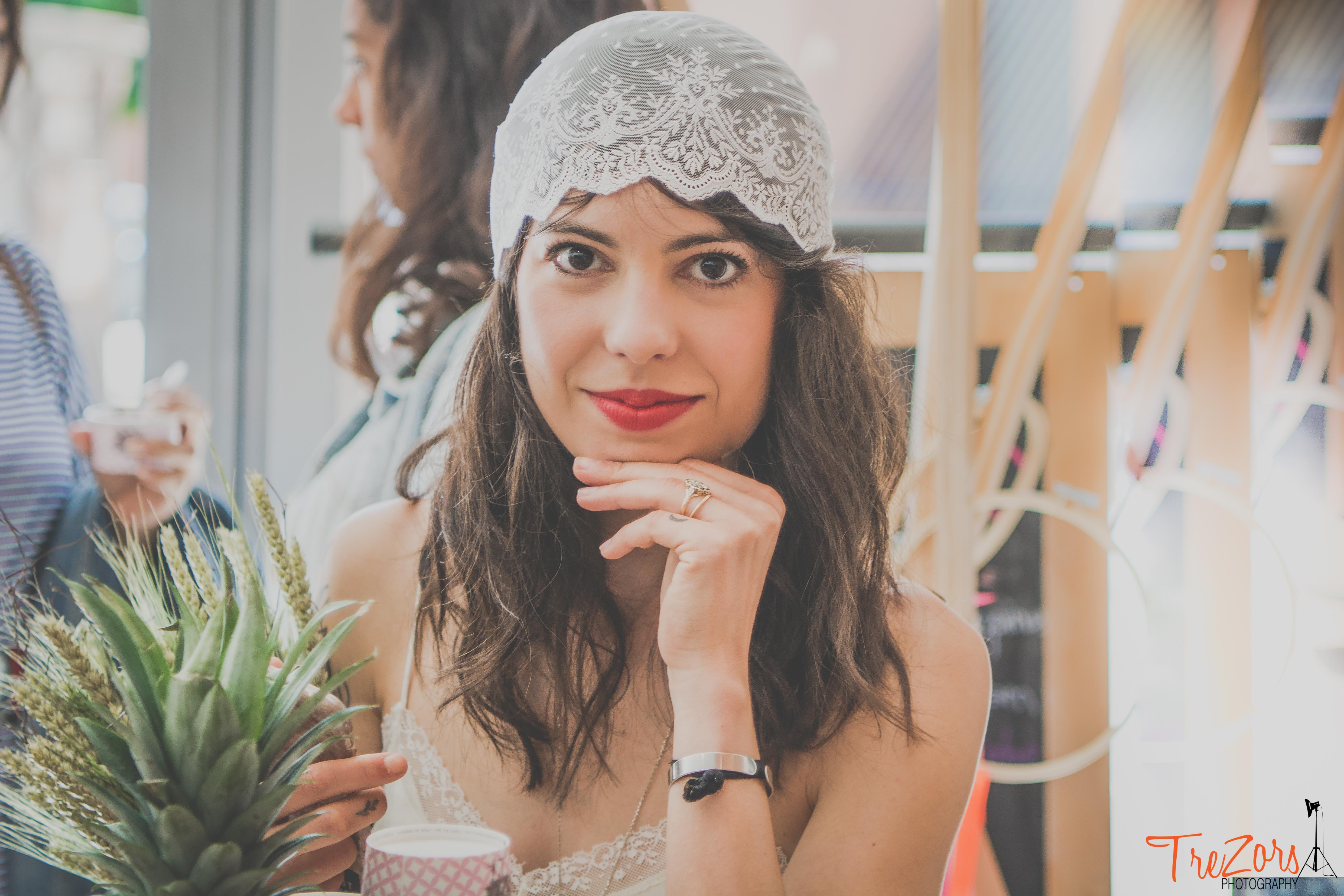 Bonnet de mariée bohème