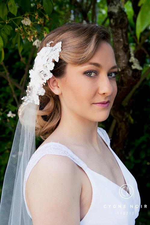 Voile de mariée cathédrale, voile dentelle cathédral, voile, mariage, cérémonie laïque