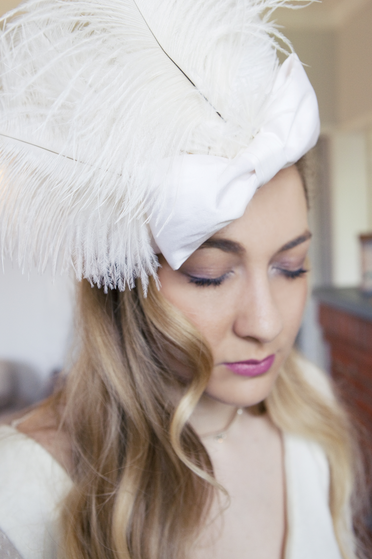 coiffe mariage hiver bibi chapeau