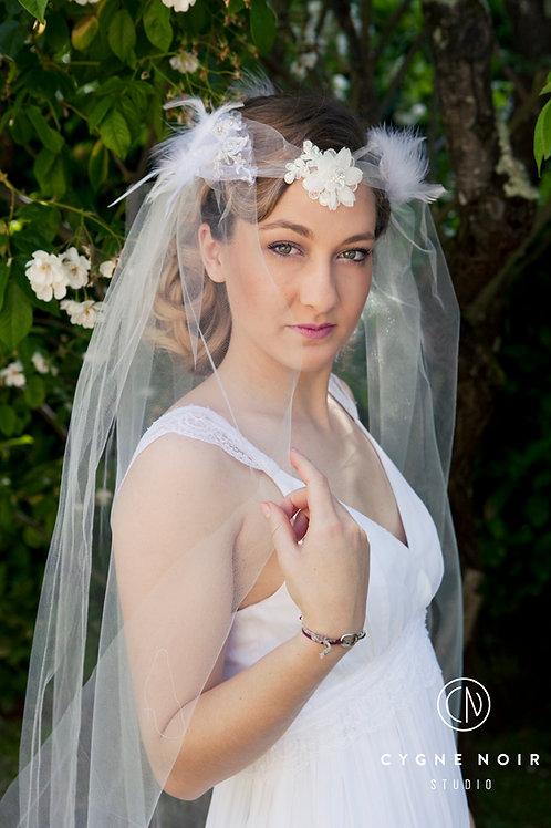 voile de mariée médiéval, voile de mariée cérémonie laïque