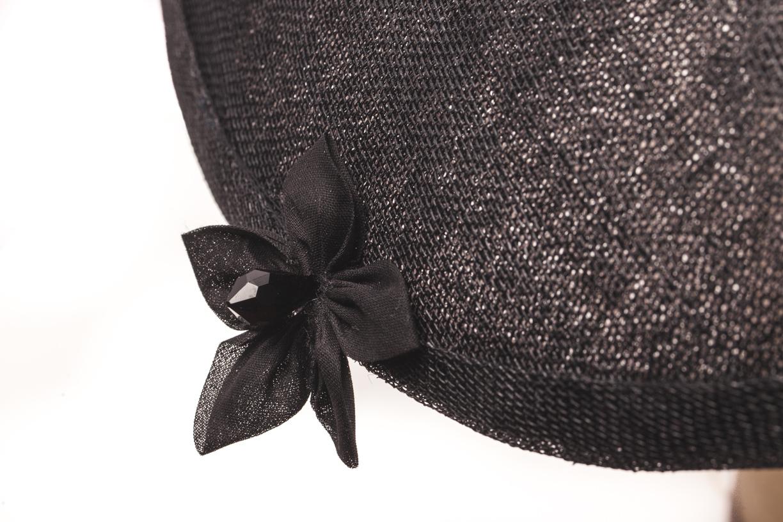 capeline noire à noeud noir organza