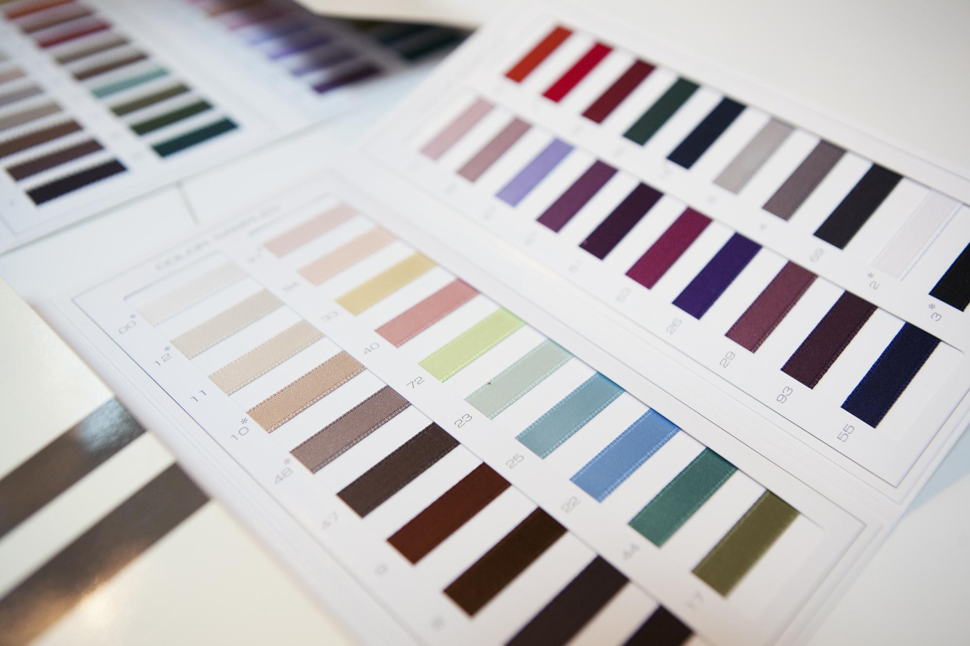 échantillons couleur capelines