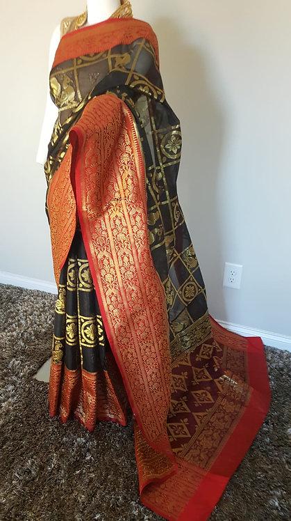 Banarasi Pure Kora Katan Silk