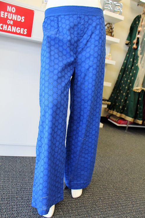 Chikan / Embroidered Plazzo Pants