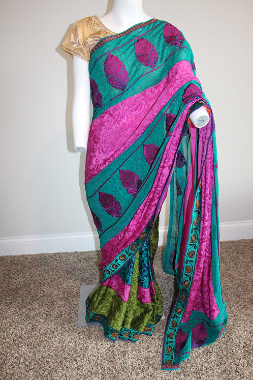 Pure Crepe Printed Silk Saree
