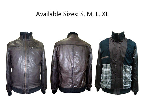 low price leather bomber for men