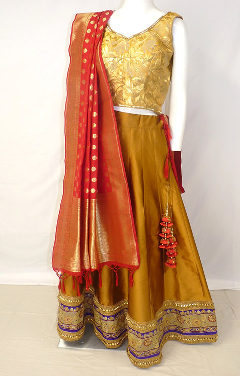 Mustard Gold 3 pcs Chaniya Choli set