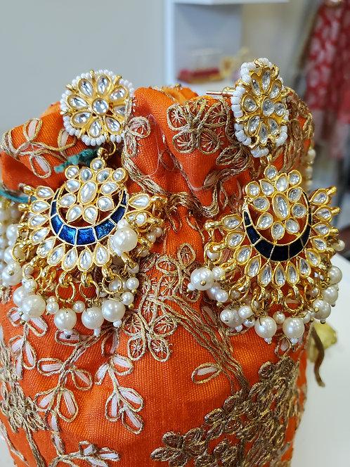 Sizzling Gold Metallic Earrings