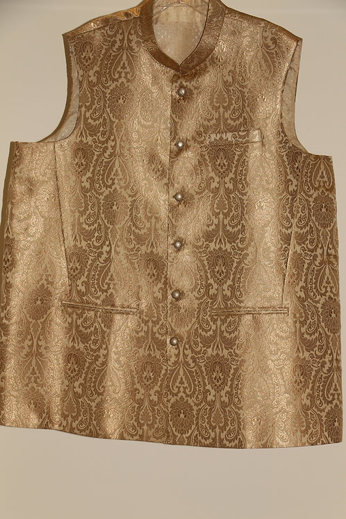 Banarasi Brocade Jacket in fawn color