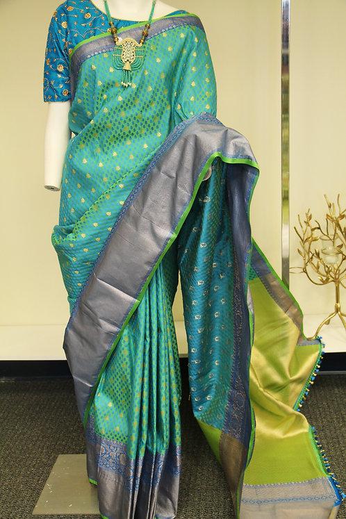 Dual tone Banarasi Semi Katan Silk Saree