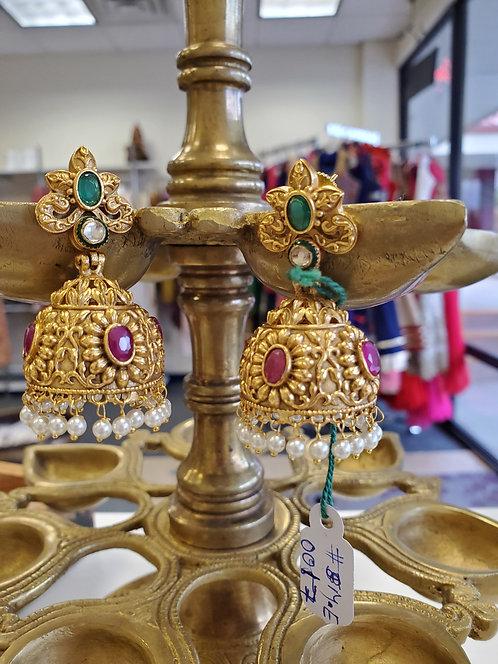 Gold Jhumkis / Earrings