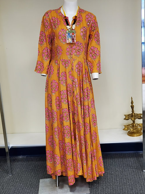 Cotton Flared Dress / Gown