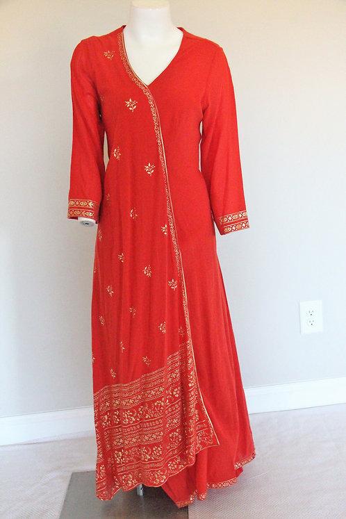 Brick Red BIBA gown