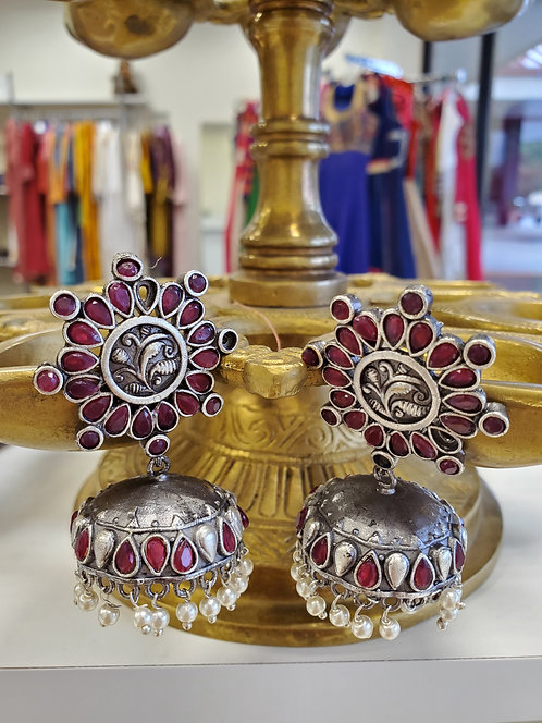 German Silver Jhumkis / Earrings