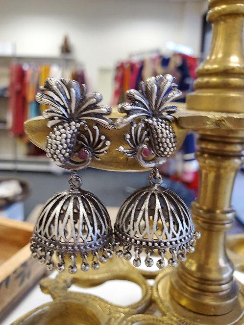 German Silver Jhumkis / Danglers / Earrings