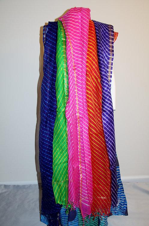 Swirl vibrant Kota silk  Leheriya dupatta