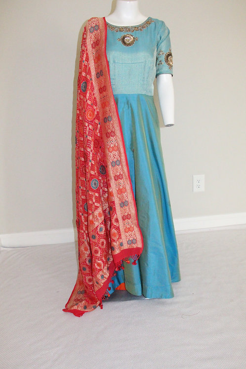 Pure Silk Front Open Dress