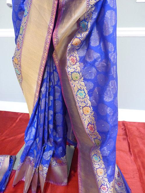 Banarasi Pure Katan Silk Meenakari