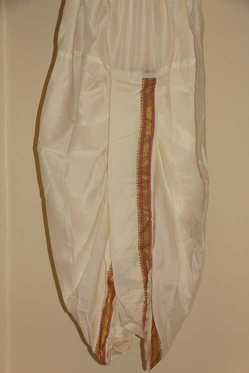 Offwhite Men's stitched dhoti