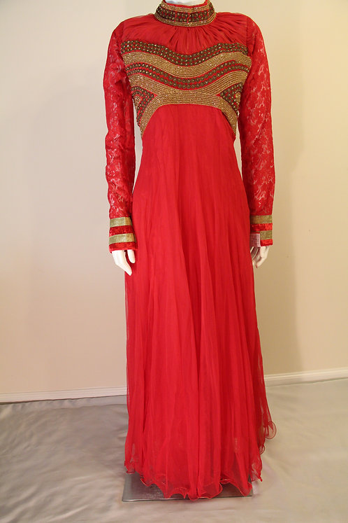 Long Gown Style Red Suit