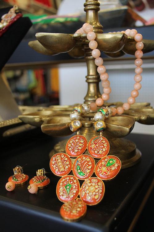 Ceramic statement Necklace Set