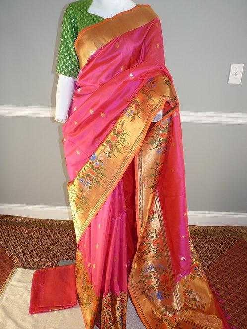 Banarasi Pure Katan Silk Paithani Saree