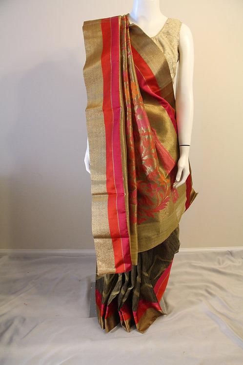 Banarasi Pure Kora Silk