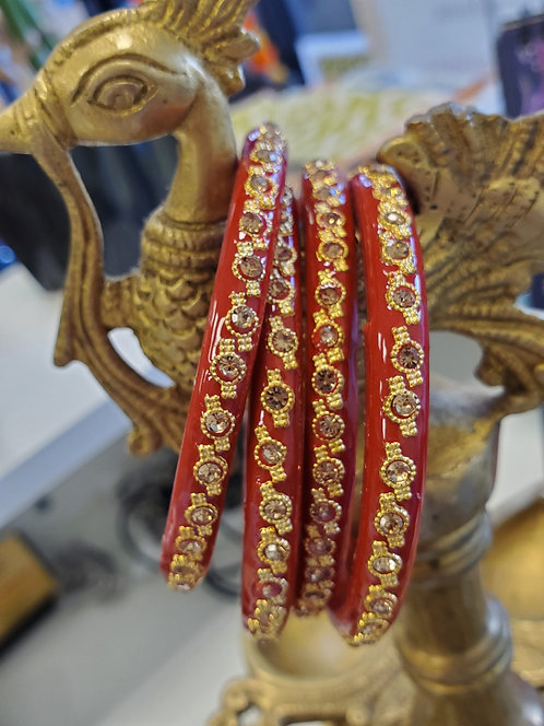 Red Glass bangles