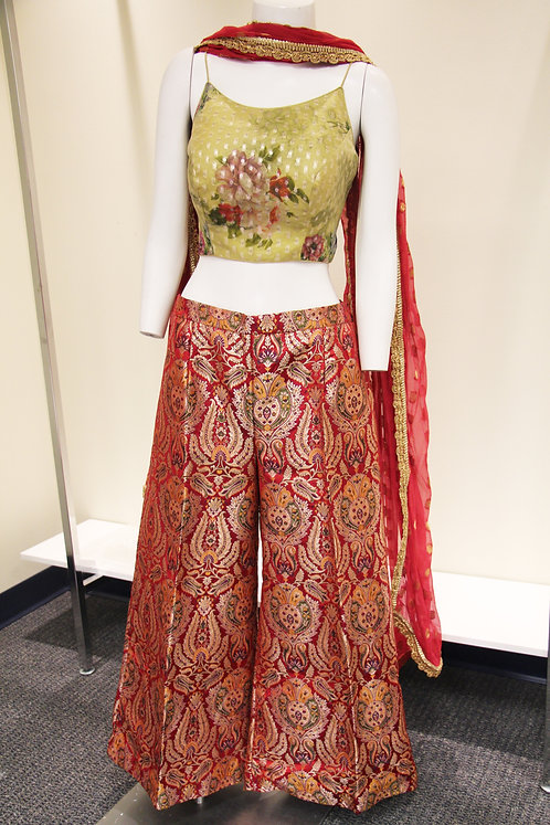 Pure Banarasi Silk Brocade Plazzo