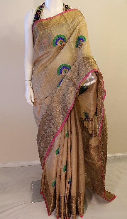 Banarasi Pure Tusser Silk