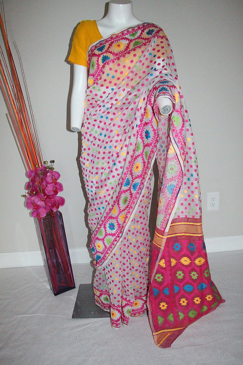 Jamdani Cotton Silk Saree