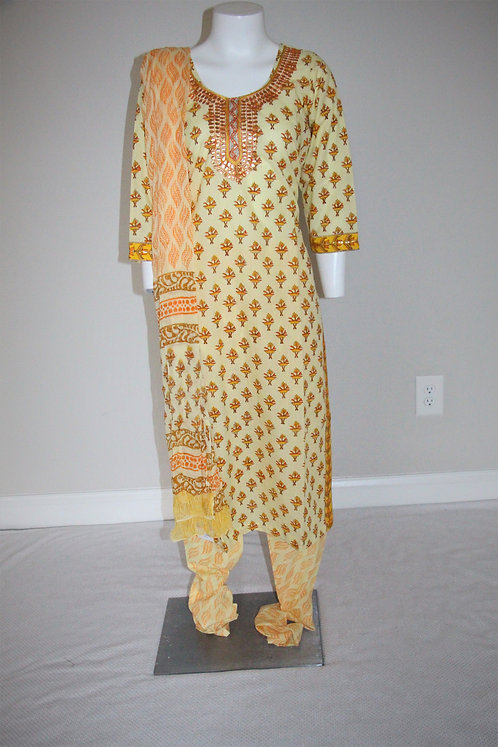 Premium Cotton Suit With Embroidery