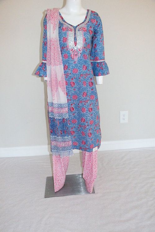 Premium Cotton Suit / Outfit with Embroidery