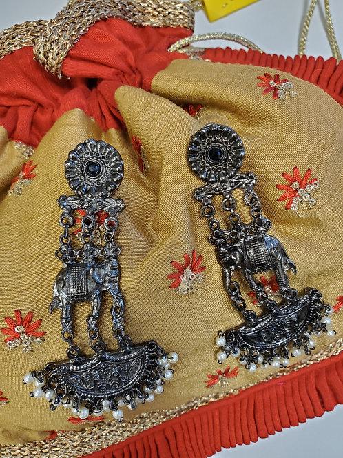 Oxidised Danglers / Earrings
